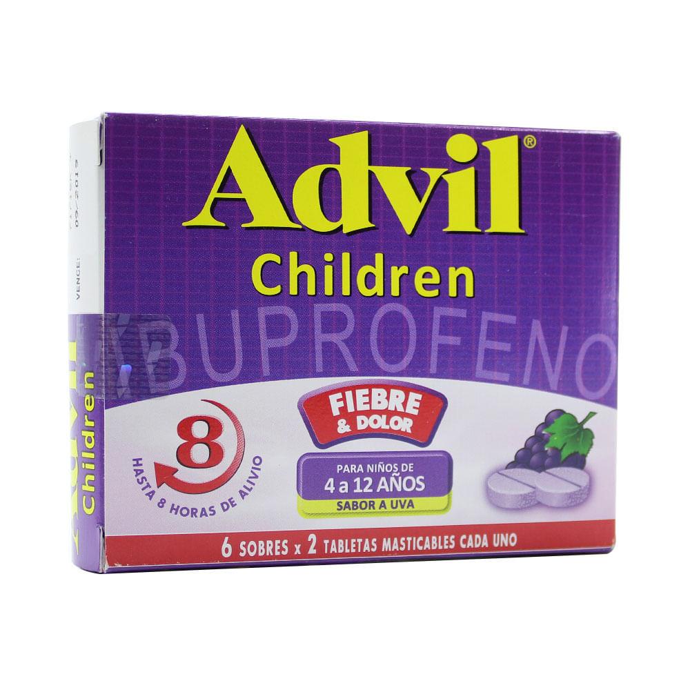 Advil Children T Masticables Uva Caja X 6 Unds Farmacia Pasteur