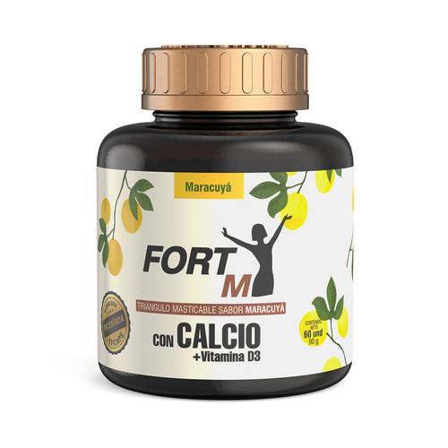 CALCIO-FORTM-TRIANGULOS-MASTICABLES-MARACUYA-FRASCO-X-60-UNDS